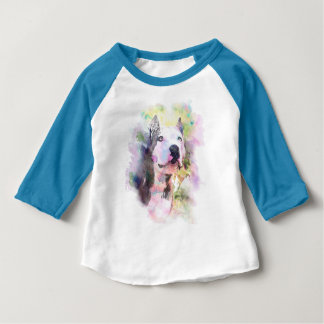 Pit Bull Water Colour Baby T-Shirt