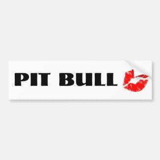 Pit Bull with Lipstick - THE ORIGINAL Bumper Sticker