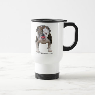 pit bull with lipstick travel mug