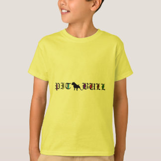 pit bull with old english text tees