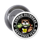 Pit Bull Zombie Outbreak Response Team Logo 6 Cm Round Badge