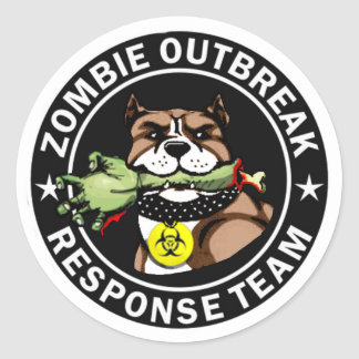 Pit Bull Zombie Outbreak Response Team Sticker