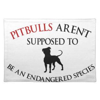 Pit bulls design cute placemat