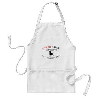 Pit bulls design cute standard apron