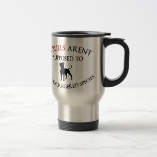 Pit bulls design cute travel mug