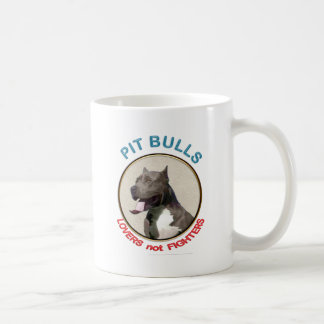Pit Bulls Lovers not Fighters Mugs