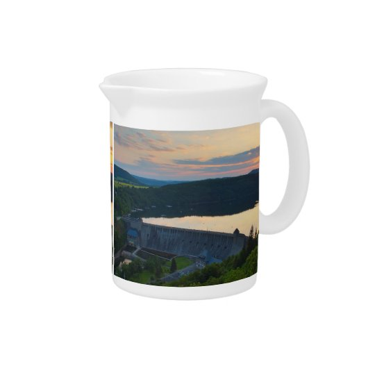 Pit Cher Edersee concrete dam sunset Pitchers