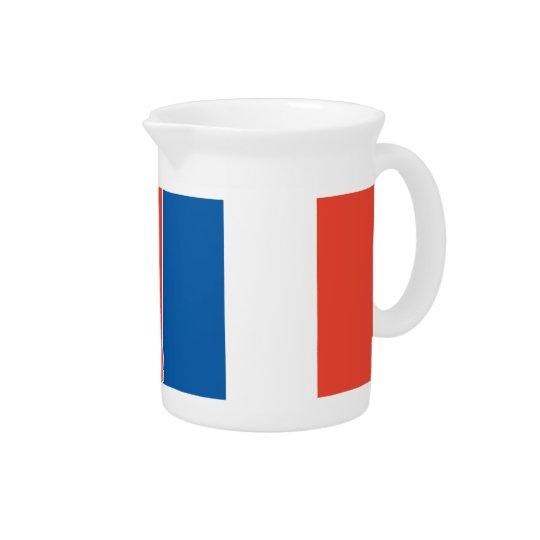 Pit Cher France flag Beverage Pitcher