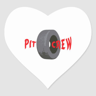 PIT CREW HEART STICKERS