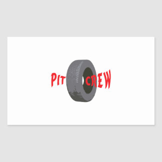 PIT CREW RECTANGLE STICKER