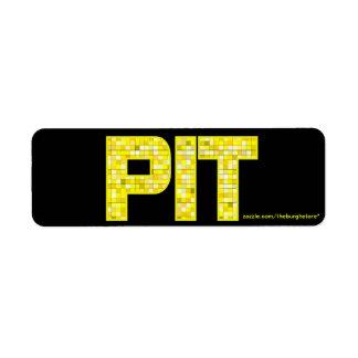 PIT Tile Return Address Stamp Return Address Label