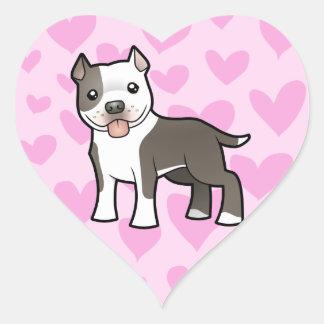 Pitbull / American Staffordshire Terrier Love Stickers