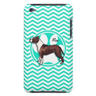 Pitbull Aqua Green Chevron Case-Mate iPod Touch Case