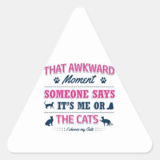 Pitbull Awkward moment Triangle Sticker