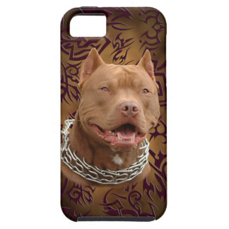 Pitbull brown tribal tattoo iPhone 5 cover