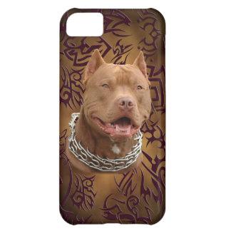 Pitbull brown tribal tattoo iPhone 5C case