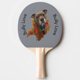 Pitbull Bully Love Ping Pong Paddle