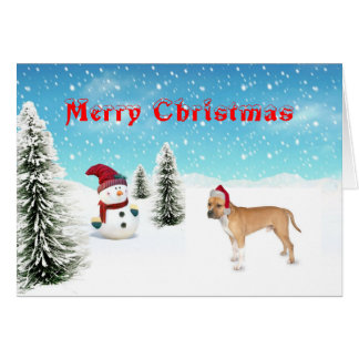 Pitbull Christmas Card