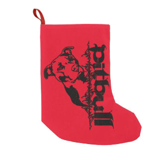 Pitbull Christmas Stocking