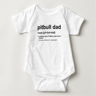 Pitbull Dad Baby Bodysuit