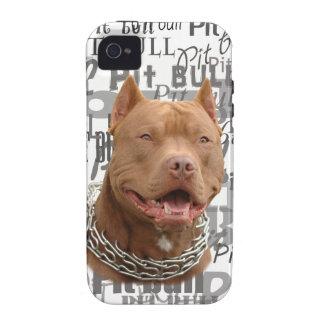 Pitbull dog iPhone 4 cases