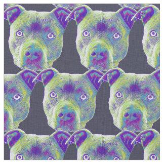 Pitbull dog Custom Fabric