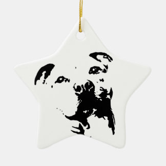 Pitbull Dog Ornaments