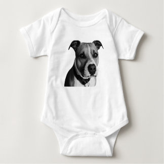 Pitbull dog pet baby bodysuit