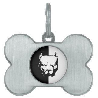 Pitbull Dog Pet Name Tag