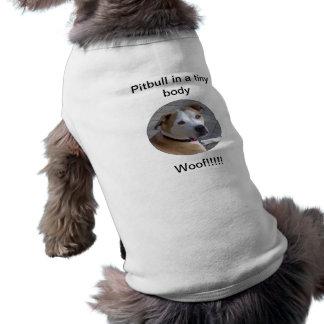 Pitbull in a tiny body sleeveless dog shirt