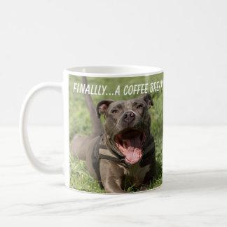 Pitbull In the Grass Coffee Mug