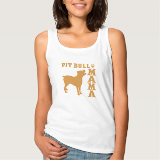 PitBull Mama, gold Singlet