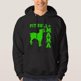 PitBull Mama, neon green Hoodie