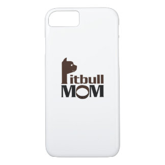 Pitbull Mom Dog Funny Gift iPhone 8/7 Case