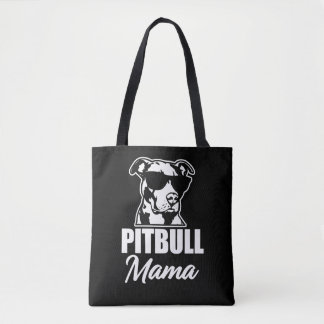 Pitbull Mom funny saying women's bag