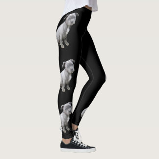 Pitbull puppy dog leggings