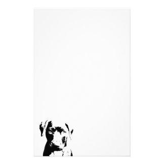 Pitbull puppy face stationery
