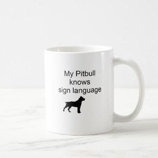 Pitbull sign Language(b) Coffee Mug