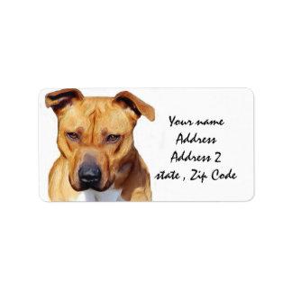 Pitbull Terrier Label