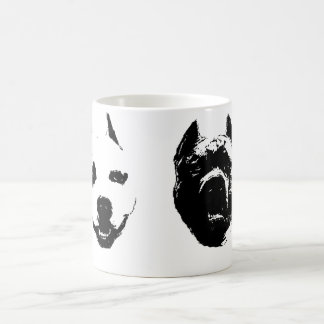 Pitbulls bw coffee mug