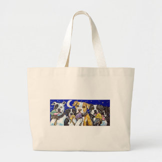 pitbulls ice cream large tote bag