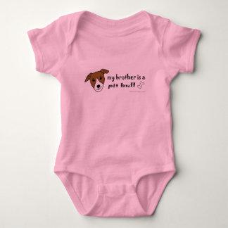 PitBullTanWhiteBrother Baby Bodysuit
