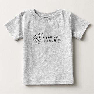 PitBullWhiteSister Baby T-Shirt