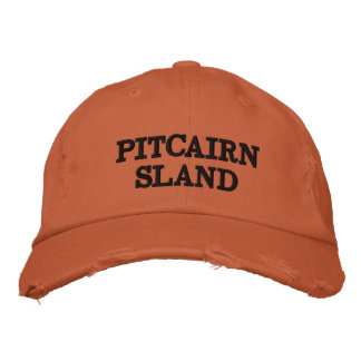 Pitcairn Island Orange Distressed Hat