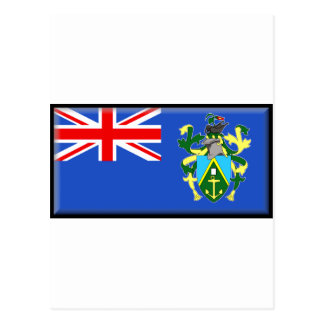 Pitcairn Islands Flag Postcard