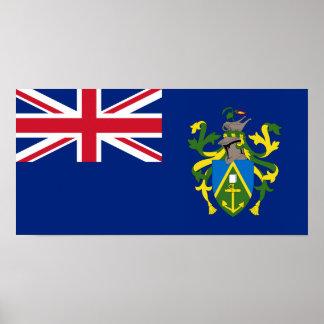 Pitcairn Islands Flag Poster