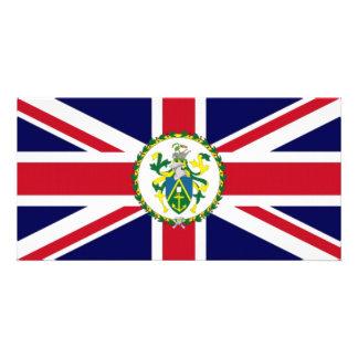 Pitcairn Islands Governor Flag Customized Photo Card