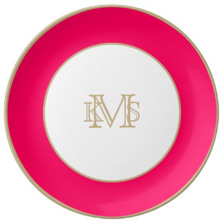 Pitcairn Pink-Rose-Hot Pink-Tropical Pink Porcelain Plate