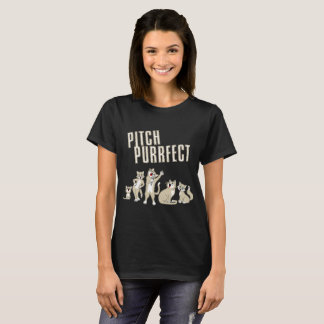 Pitch Purrfect Funny Singing Cats Movie Parody T-Shirt