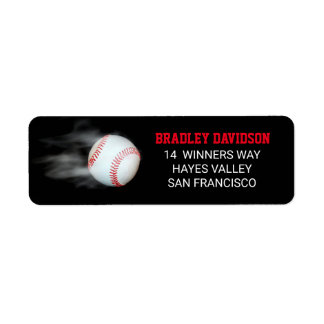 Pitch The Ball Baseball Editable Personalized Return Address Label